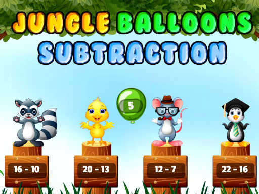 Jungle Balloons Subtraction