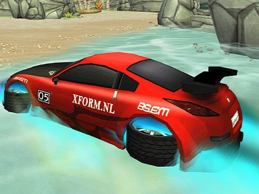 Incredible Water Surfing  Car Racing Game 3D