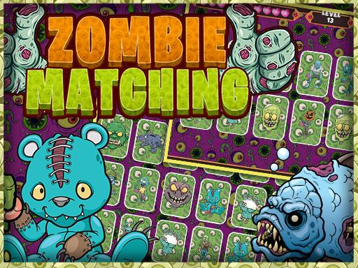 Zombie Card Games  Matching Card