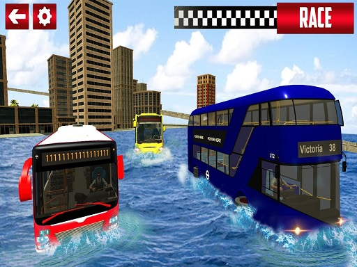 Extreme Water Surfer Bus Simulator