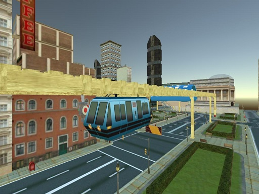 Sky Train Simulator  Elevated Train Driving Game